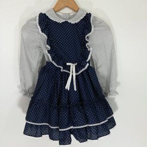 Vintage Miss Quality Girl Ruffled Dress Size 6